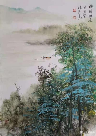 陈刚日记-画三幅国画山水水粉画《黄山烟云》《楠溪捕鱼》,装裱两幅,又开始采风了。我犹如一只【图3】