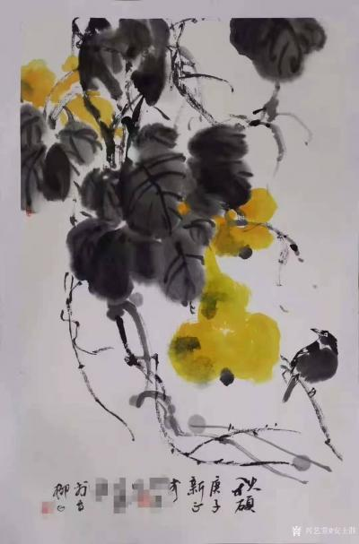 安士胜收藏-在鸿图美术学校带了个国画班,其中五位同学参加了今年的天津市文艺展演(毕业年级同学【图1】