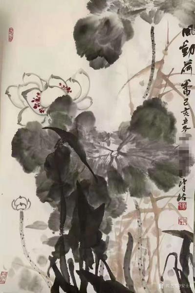 安士胜收藏-在鸿图美术学校带了个国画班,其中五位同学参加了今年的天津市文艺展演(毕业年级同学【图2】