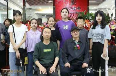 安士胜收藏-在鸿图美术学校带了个国画班,其中五位同学参加了今年的天津市文艺展演(毕业年级同学【图5】