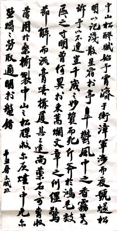 陈文斌日记-辛丑夏月,书法家陈文斌录《中山松醪赋》; 《中山松醪赋》:始余宵济于衡漳,车徒【图1】