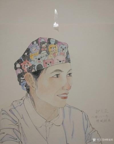傅斌科日记-人物肖像速写《护士长》,傅斌科二零二一年画; 这就叫做饭不离口,画不离手,住院【图1】