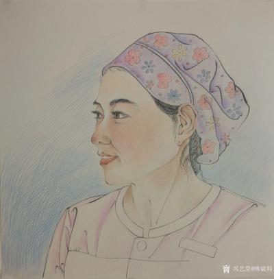 傅斌科日记-人物肖像速写《护士长》,傅斌科二零二一年画; 这就叫做饭不离口,画不离手,住院【图2】