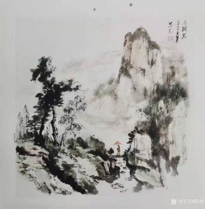 陈刚日记-陈刚国画水墨写生作品三幅,请欣赏。 从载人航天,到郑州雨灾,和奥运首金,我的眼【图1】