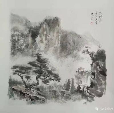 陈刚日记-陈刚国画水墨写生作品三幅,请欣赏。 从载人航天,到郑州雨灾,和奥运首金,我的眼【图2】