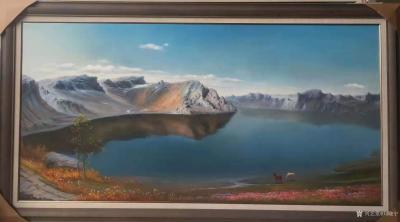 刘晓宁收藏-志同道合的朋友是可以滋养心灵的,勇强和他朋友都是画油画的,一个画写实,一个画抽象【图2】