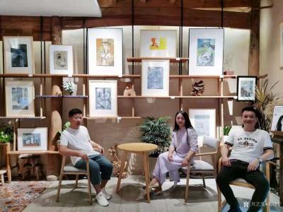 刘晓宁收藏-志同道合的朋友是可以滋养心灵的,勇强和他朋友都是画油画的,一个画写实,一个画抽象【图5】