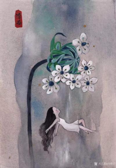 刘晓宁日记-香香漫画作品陆续被收藏,感谢藏家,画展作品可收藏,作品比较多,想收藏询价的我把作【图1】