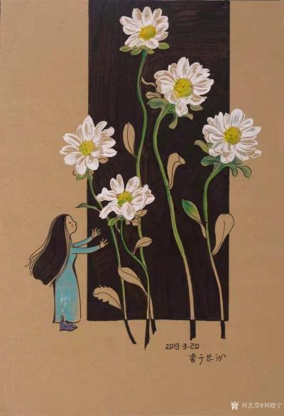 刘晓宁日记-香香漫画作品陆续被收藏,感谢藏家,画展作品可收藏,作品比较多,想收藏询价的我把作【图2】