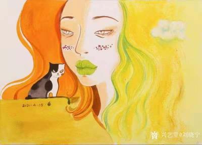刘晓宁日记-香香漫画作品陆续被收藏,感谢藏家,画展作品可收藏,作品比较多,想收藏询价的我把作【图7】