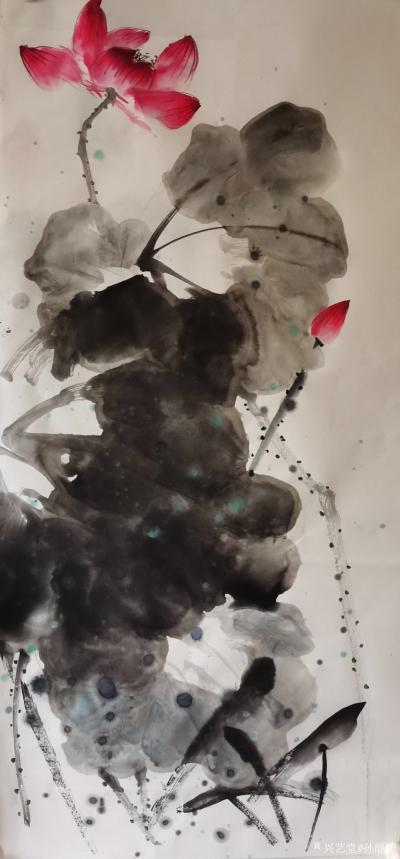孙静涛日记-国画花鸟画水墨荷花系列,辛丑年夏月画夏荷。 孙静涛作品,请欣赏。【图1】