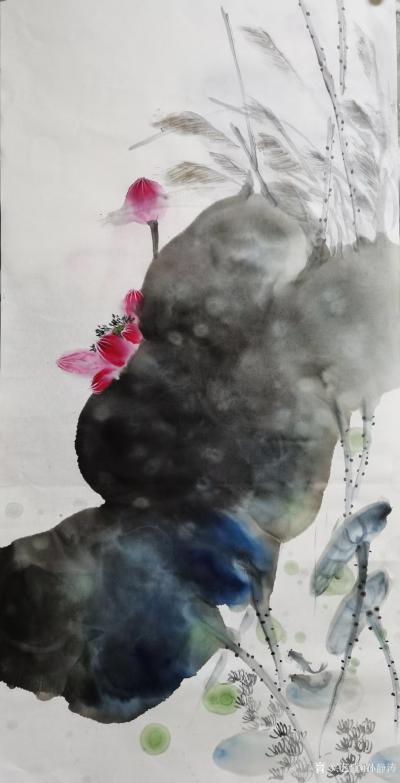 孙静涛日记-国画花鸟画水墨荷花系列,辛丑年夏月画夏荷。 孙静涛作品,请欣赏。【图2】