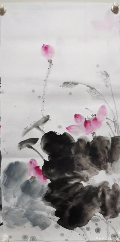 孙静涛日记-国画花鸟画水墨荷花系列,辛丑年夏月画夏荷。 孙静涛作品,请欣赏。【图3】