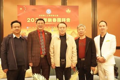 陈利波生活-本人与曾程本先生(世界华人企业家联合会主席、左二),张明星先生(全国政协委员、澳【图1】