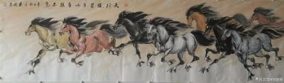 刘建国日记-刘建国辛丑年作品群马图系列《天行健君子以自强不息》《春风得意马蹄疾》《雄风万里八【图1】