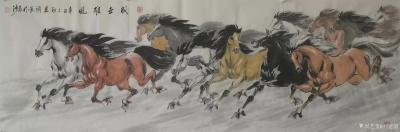 刘建国日记-刘建国辛丑年作品群马图系列《天行健君子以自强不息》《春风得意马蹄疾》《雄风万里八【图5】