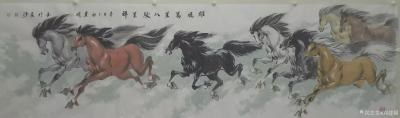 刘建国日记-刘建国辛丑年作品群马图系列《天行健君子以自强不息》《春风得意马蹄疾》《雄风万里八【图7】